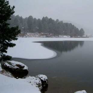 Picture-Evergreen Lake-Ice Forming